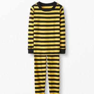 NWT Hanna Andersson Yellow Black Pajamas 110